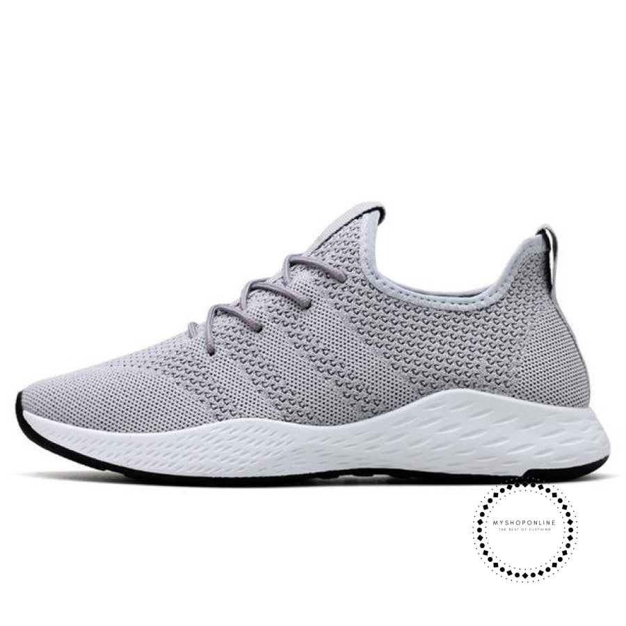 Summer Men Running Shoes Outdoor Jogging Training Sports Sneakers Breathable Mesh For Grey K11 / 7.5