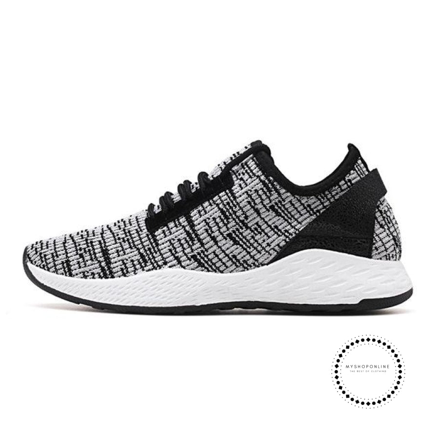 Summer Men Running Shoes Outdoor Jogging Training Sports Sneakers Breathable Mesh For Grey K99 / 7.5