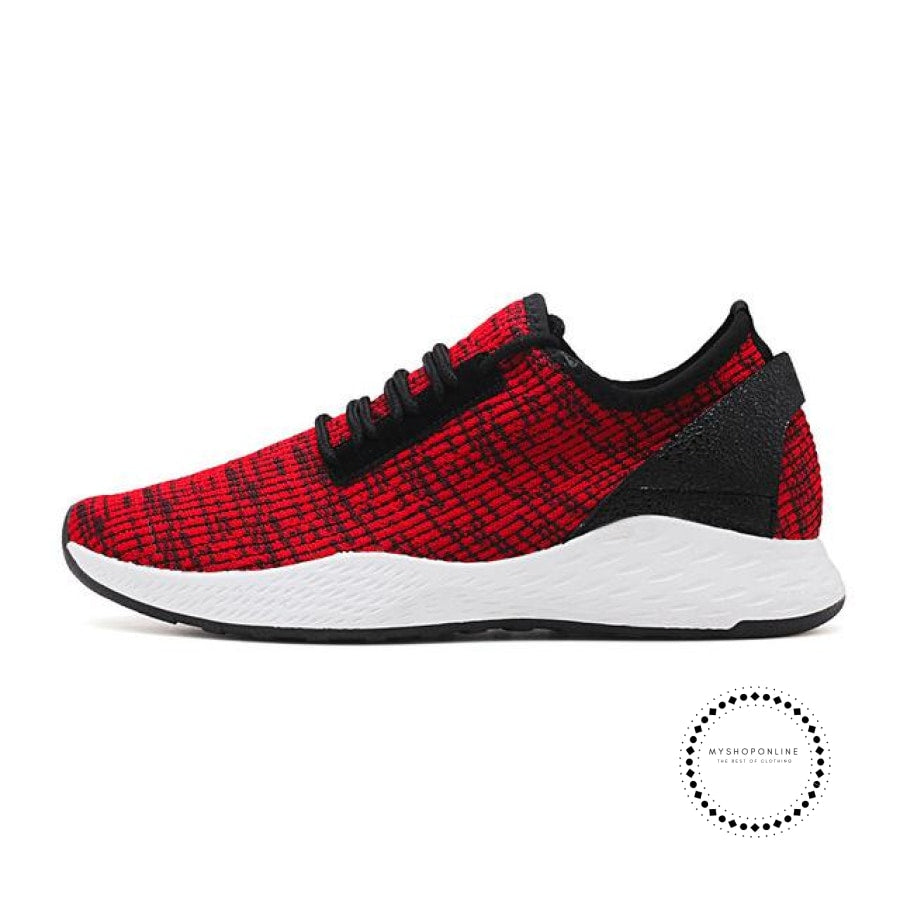 Summer Men Running Shoes Outdoor Jogging Training Sports Sneakers Breathable Mesh For Red K99 / 7.5