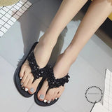 Summer Shoes Woman Rivet Glitter Designer Platform Sandals Women Bling Flip Flops Black Flipflops /