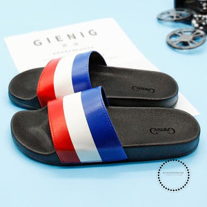 Summer Slippers Mens Indoor And Outdoor Cool Dragging Beach Slippers. Color Matching / 7