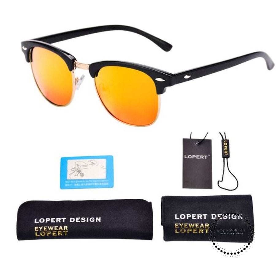 Sunglasses For Men And Women Sun Glasses Set 1 Black Orange Accesorios