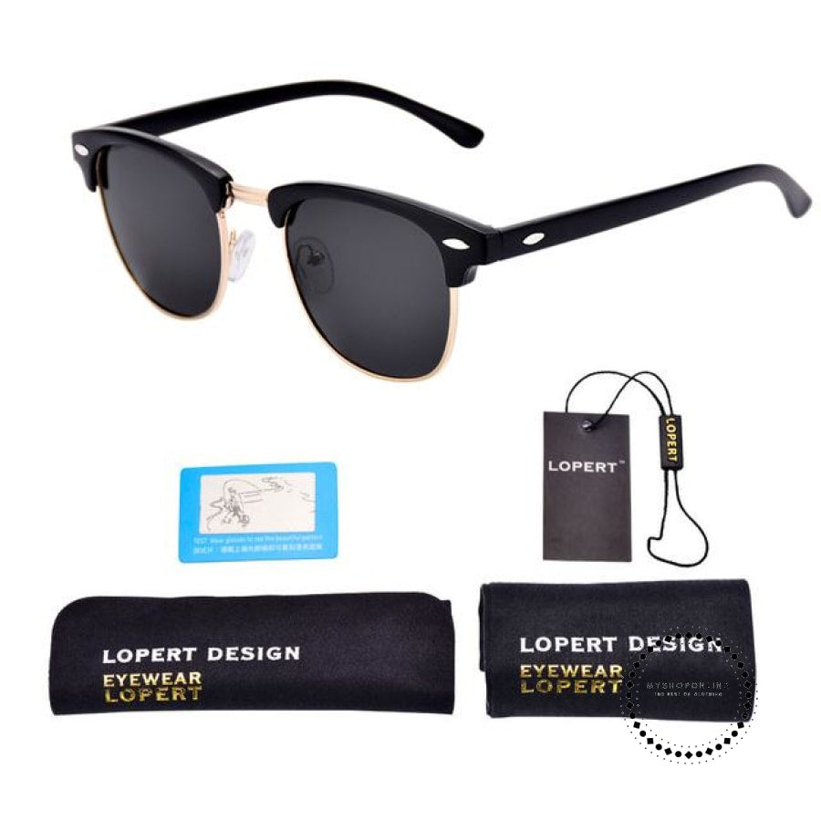 Sunglasses For Men And Women Sun Glasses Set 1 Matte Black Accesorios