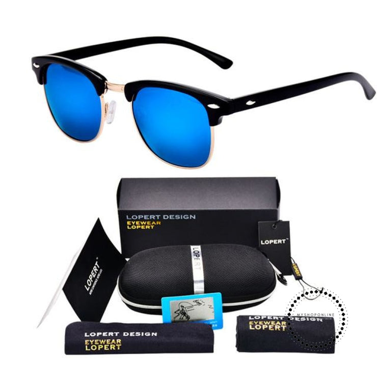 Sunglasses For Men And Women Sun Glasses Set 2 Black Blue Accesorios