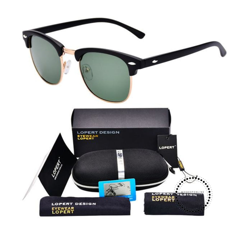 Sunglasses For Men And Women Sun Glasses Set 2 Black Green Accesorios