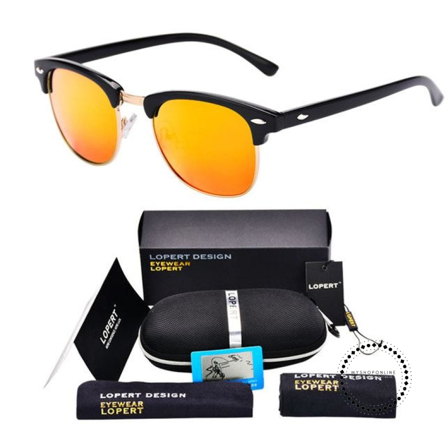 Sunglasses For Men And Women Sun Glasses Set 2 Black Orange Accesorios