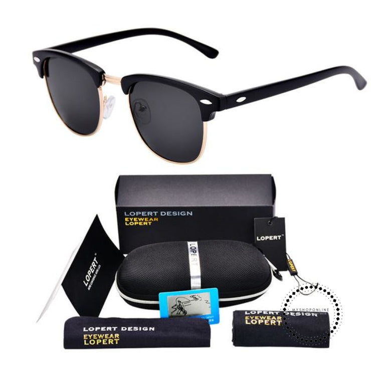 Sunglasses For Men And Women Sun Glasses Set 2 Matte Black Accesorios