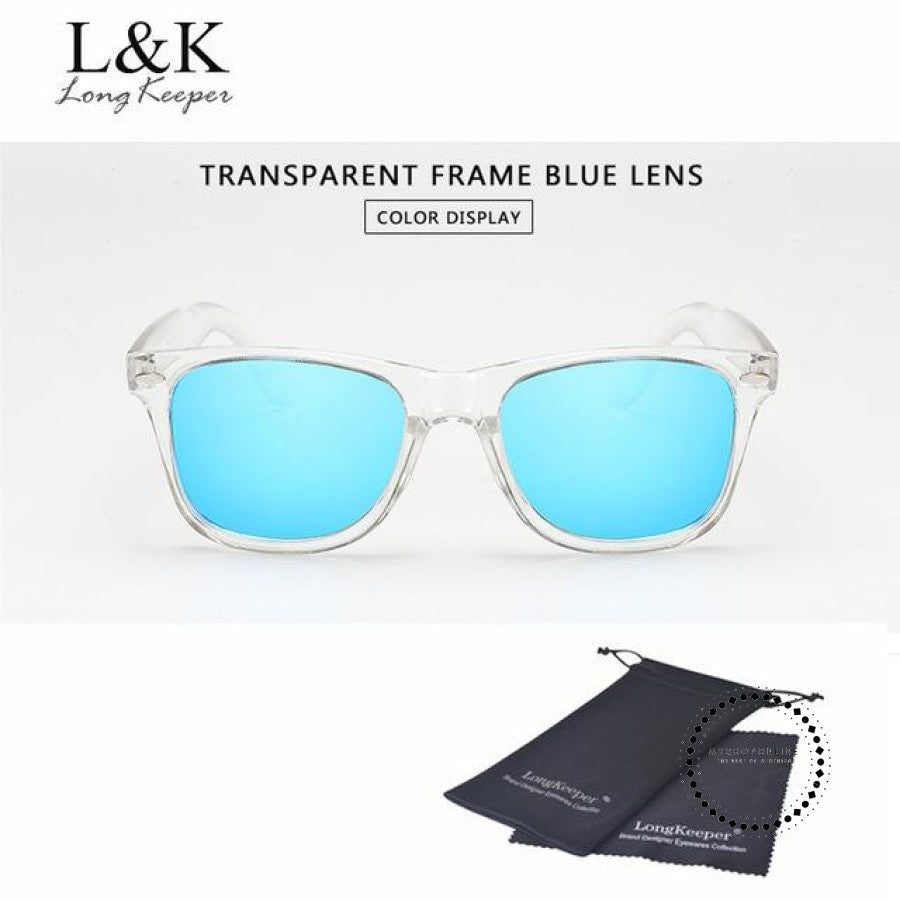 Sunglasses Polarized Uv400 Men Night Vision Transparent Tr Blue