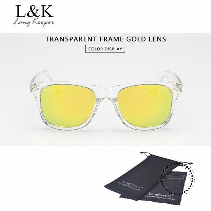 Sunglasses Polarized Uv400 Men Night Vision Transparent Tr Gold