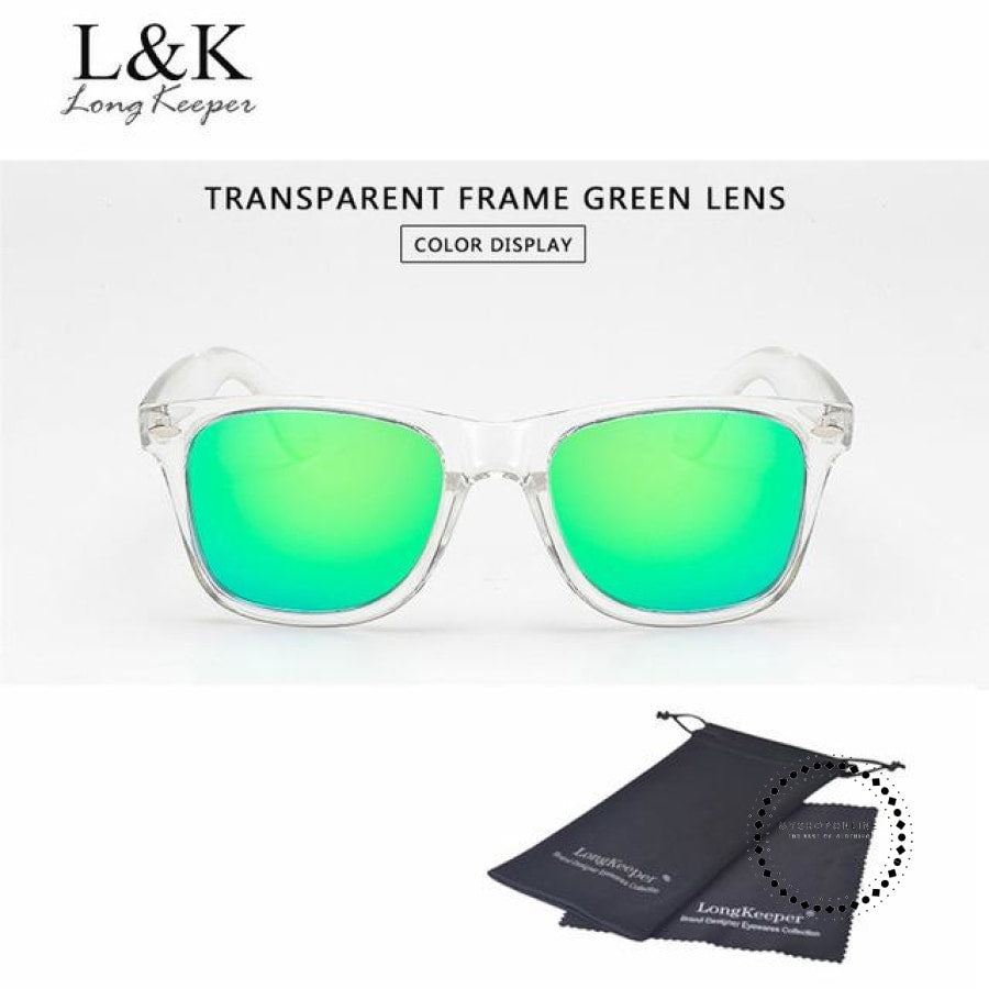 Sunglasses Polarized Uv400 Men Night Vision Transparent Tr Green