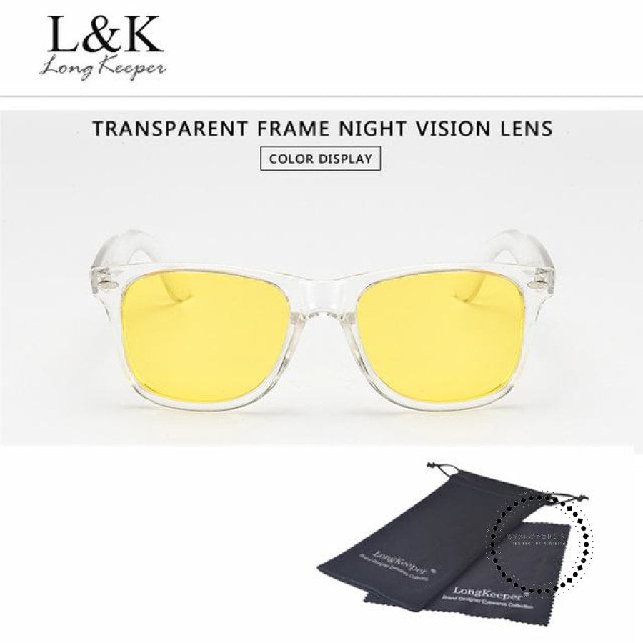 Sunglasses Polarized Uv400 Men Night Vision Transparent Tr