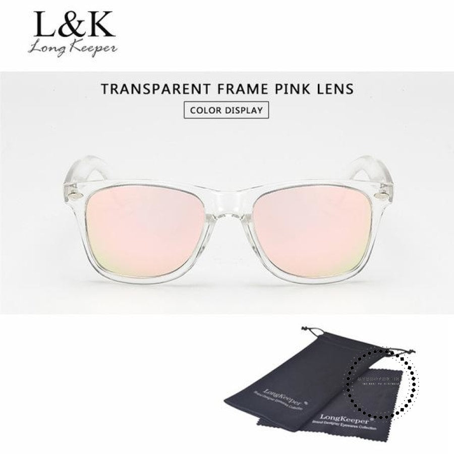 Sunglasses Polarized Uv400 Men Night Vision Transparent Tr Pink