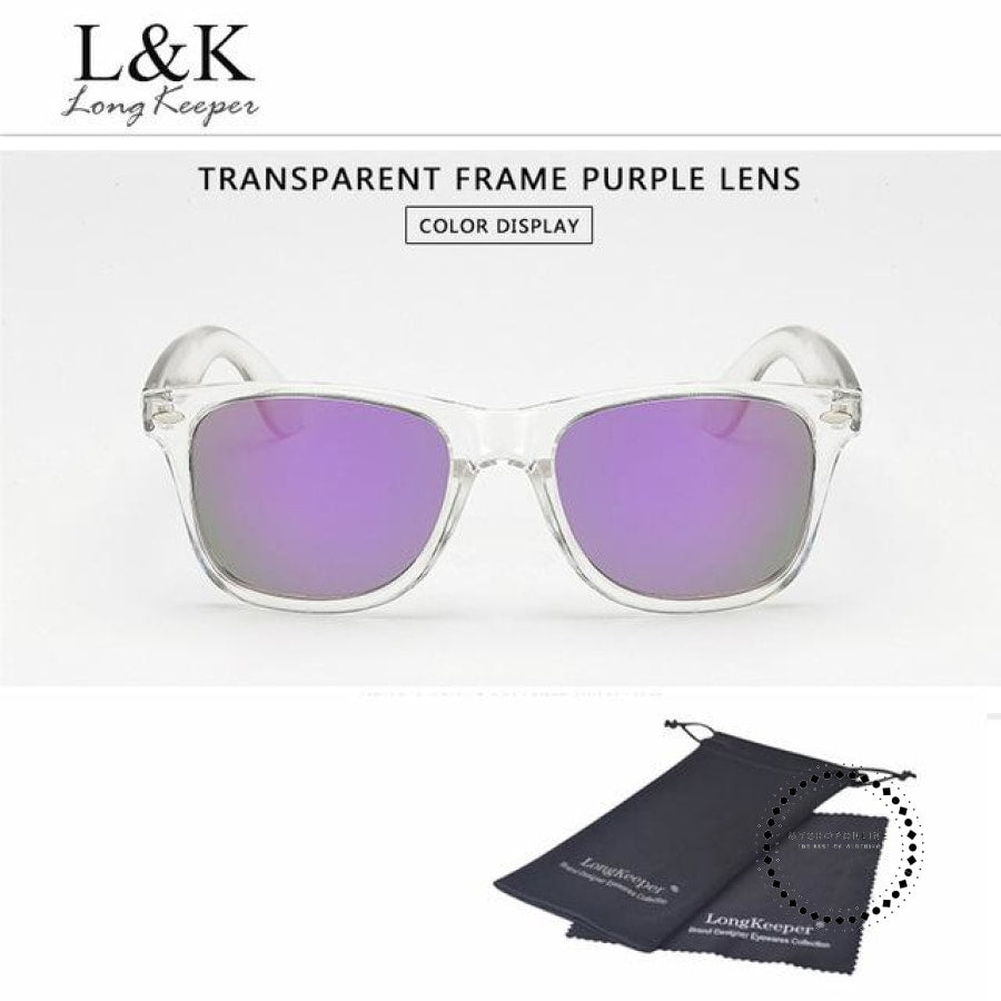 Sunglasses Polarized Uv400 Men Night Vision Transparent Tr Purple