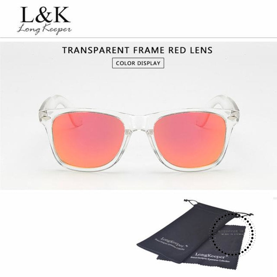 Sunglasses Polarized Uv400 Men Night Vision Transparent Tr Red