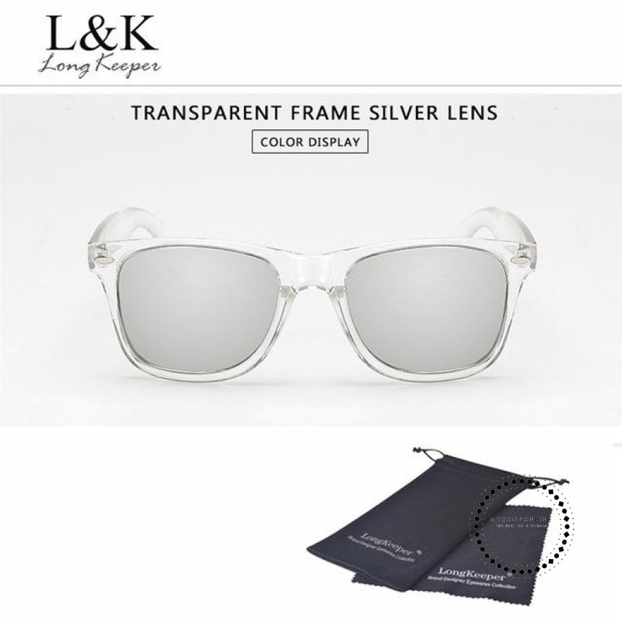 Sunglasses Polarized Uv400 Men Night Vision Transparent Tr Silver