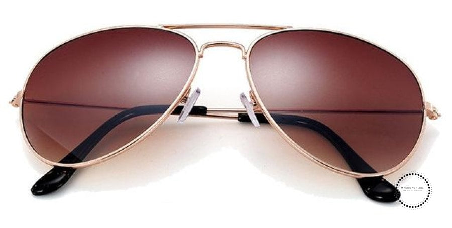 Sunglasses Women And Men Gold F Brown / Colors Accesorios
