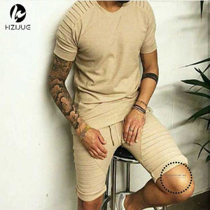 T Shirt Homme Men Khaki Swag Clothes Hip Hop T-Shirt Streetwear Biker Tees