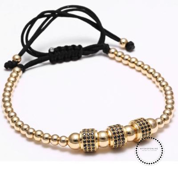 Titanium Men Bracelet Pure Gold Color Accesorios