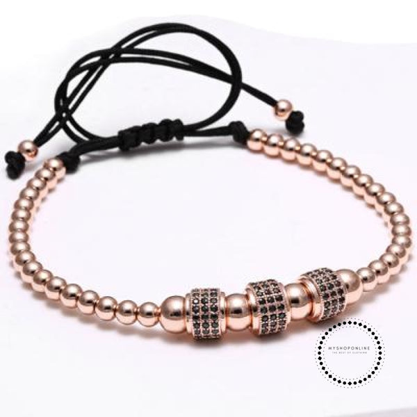 Titanium Men Bracelet Rose Gold Color Accesorios
