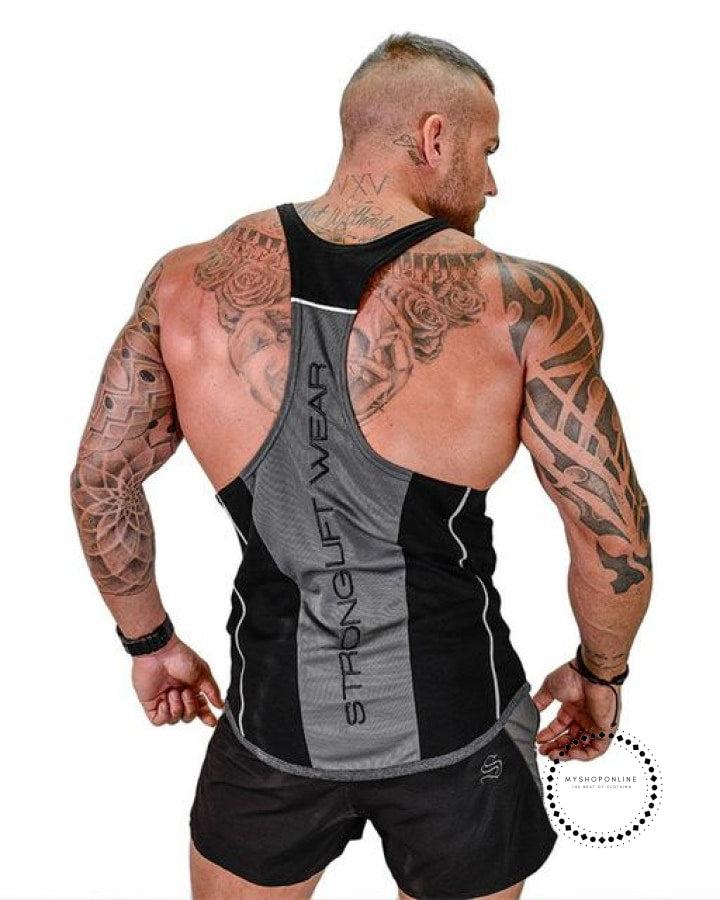 Tops Gyms Clothing Bodybuilding Black / M Deporte