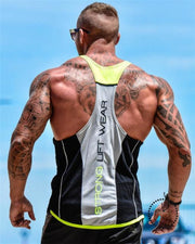 Tops Gyms Clothing Bodybuilding Black Yellow / M Deporte