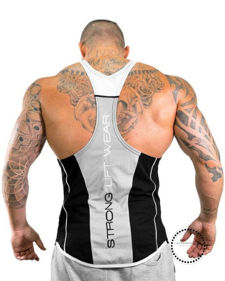 Tops Gyms Clothing Bodybuilding Gray / M Deporte