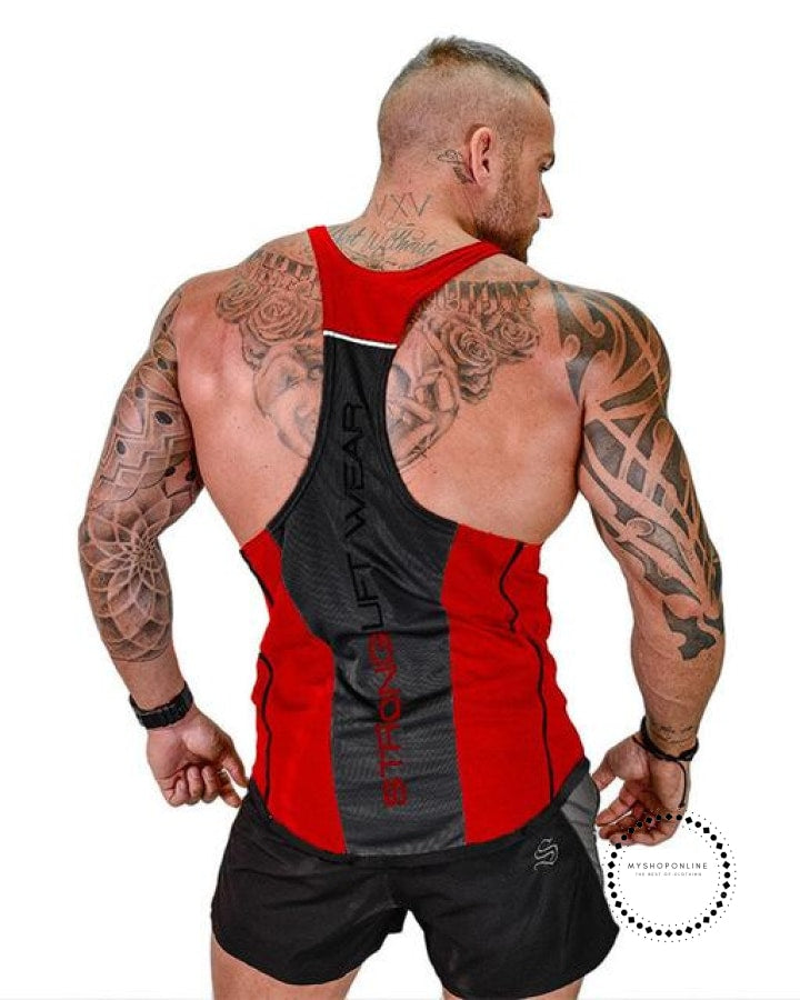 Tops Gyms Clothing Bodybuilding Red / M Deporte