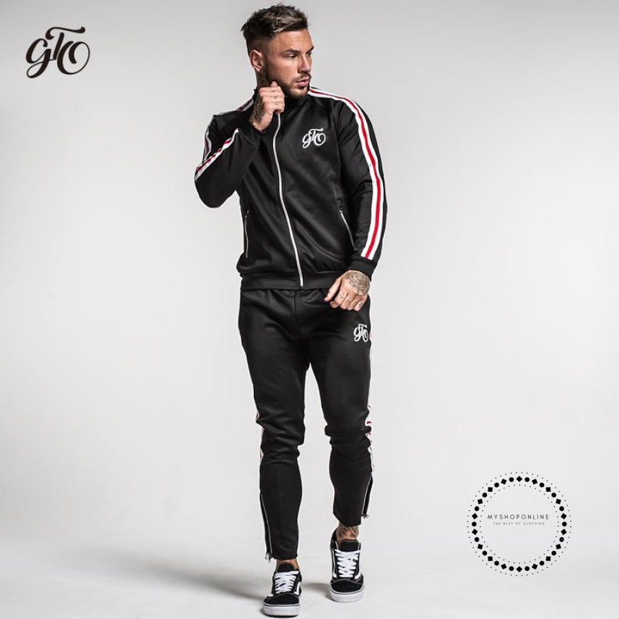 Tracksuit Men Sets Track Pants Sporting Suits Mens Clothing Streetwear Casual Outwear Elastic Big