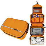 Travel Cosmetic Bag Men Wash Shaving Waterproof Toiletry Storage Large Capacity Orange