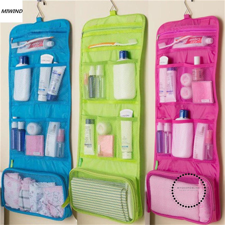 Travel Toiletry Bag Polyester Organizer Cosmetic Case Makeup Beauty Hanging Cosmetics Make Up