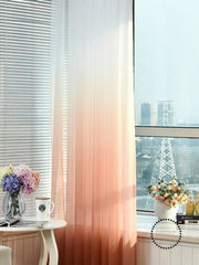 Tulle Curtains 3D Printed Decorations 01 / W100 X H250Cm Hook Accesorios
