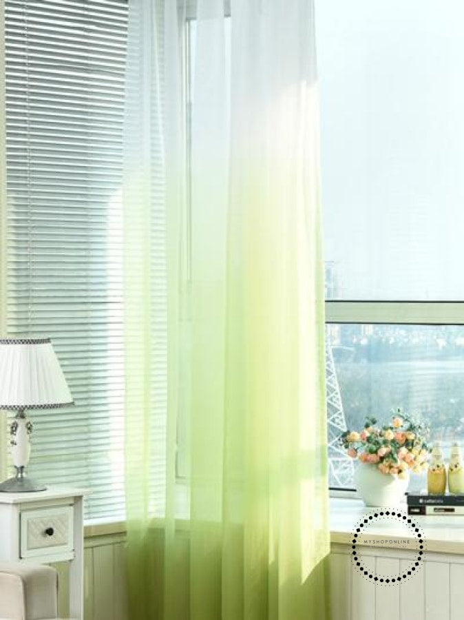 Tulle Curtains 3D Printed Decorations 02 / W100 X H250Cm Hook Accesorios