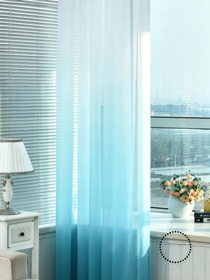 Tulle Curtains 3D Printed Decorations 03 / W100 X H250Cm Hook Accesorios