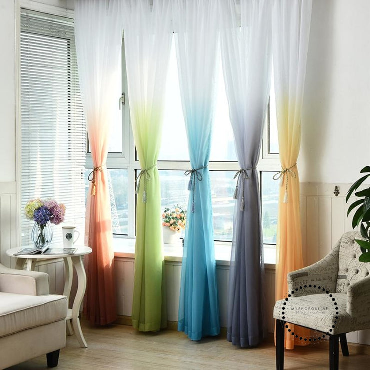 Tulle Curtains 3D Printed Decorations Accesorios