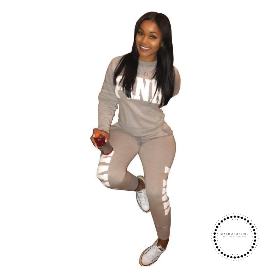 two piece set women tracksuits sweat suit casual