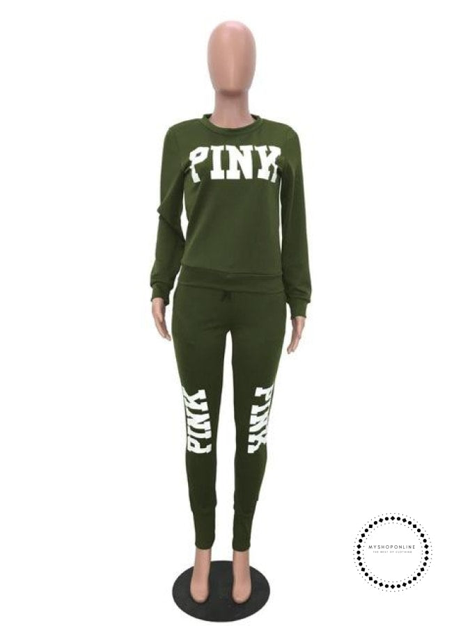 Two Piece Set Women Tracksuits Sweat Suit Casual Sweatshirt Tracksuit Green / S Accesorios