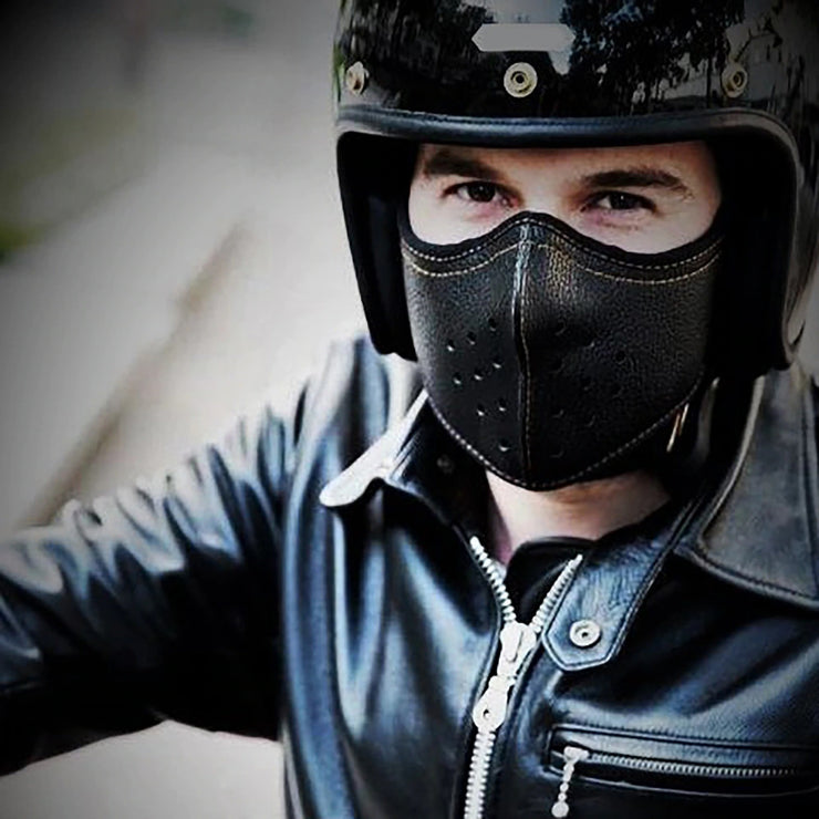 Punk Leather Camping Hiking Scarves Cycling Sports Bandana Outdoor Headscarves Riding Motorcycle Biker Headwear Scarf Mask coronavirus