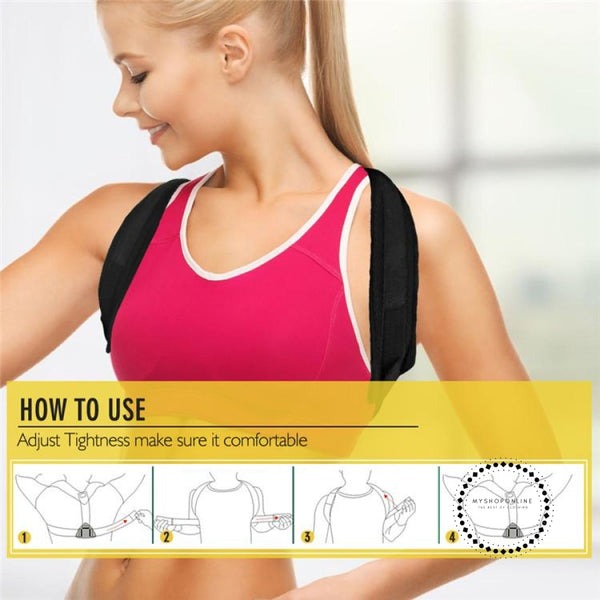 Upper Back Posture Corrector Clavicle Support Belt Slouching Accesorios
