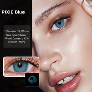 Colored Contacts Lenses RussianGirl Taylor DNA Color Contact Lenses for Eyes Contacts With Color Lens Eyes Blue Gray Contacts