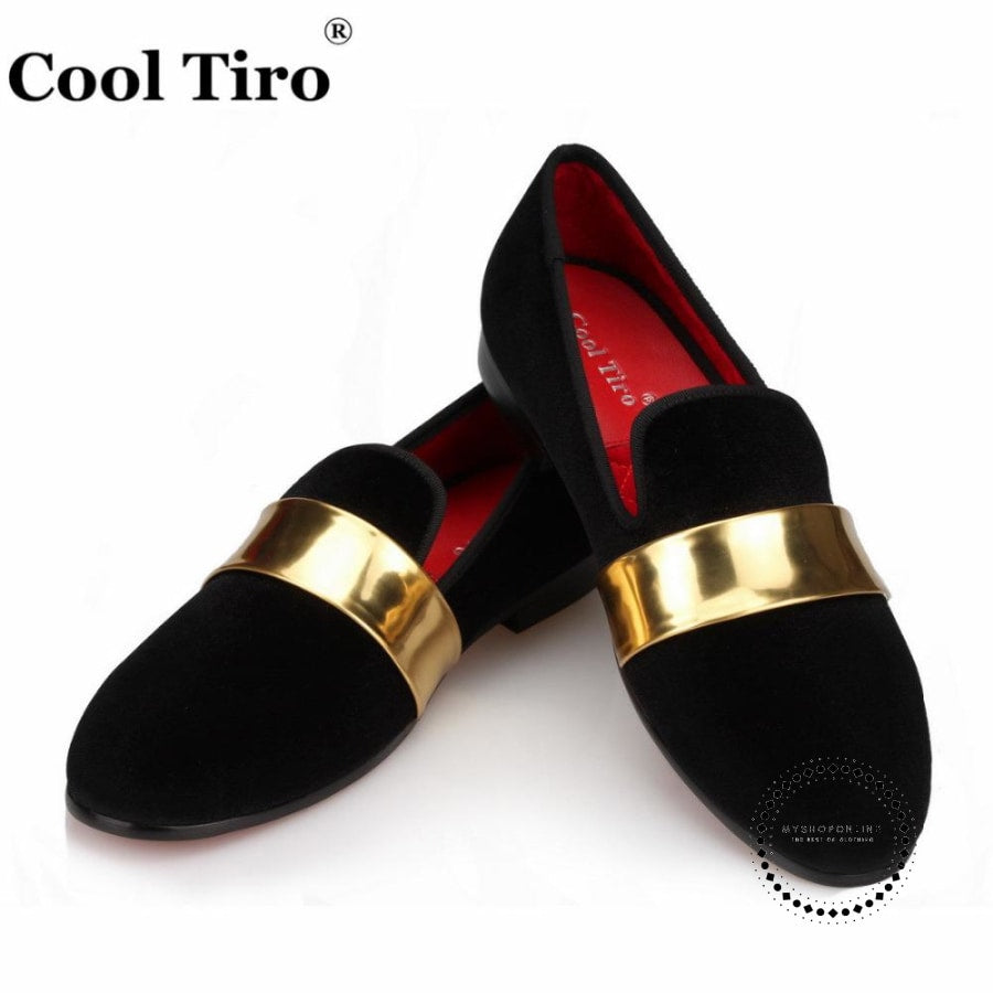 Velvet Loafers Mens Slippers Moccasins Dress Shoes Black / 5 Accesorios