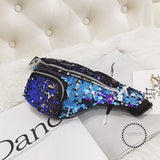 Waist Bag Women Sequins Fanny Pack Bags Designer Fashion Hip Bum Belt