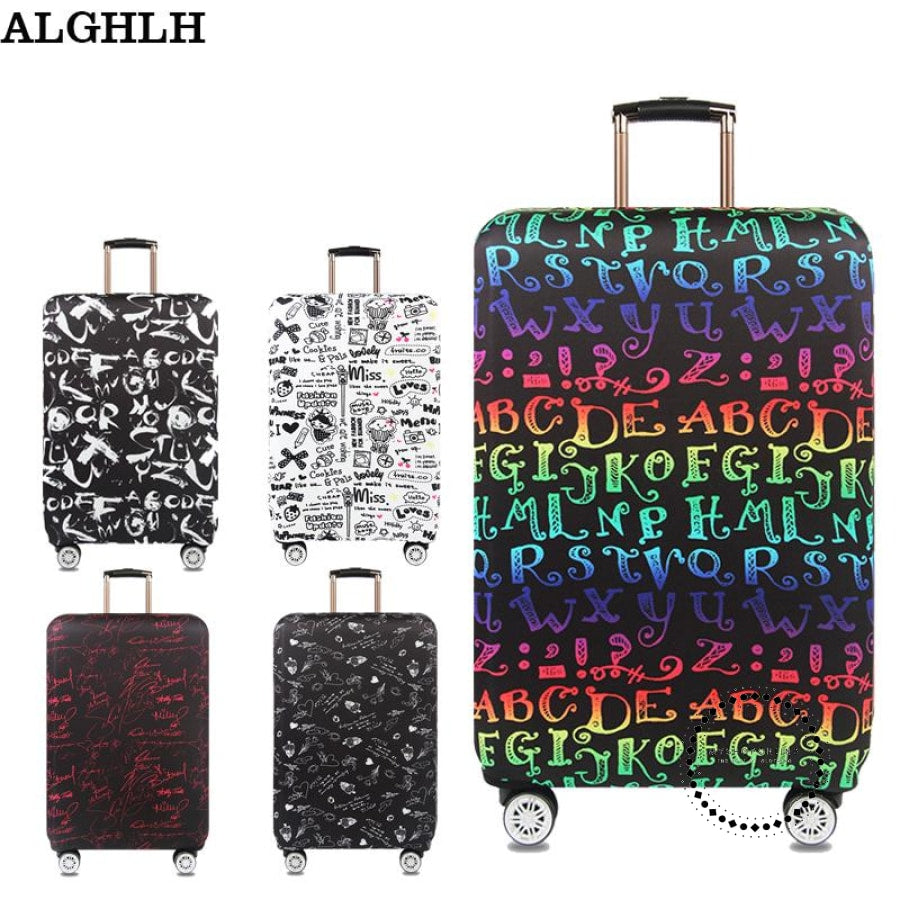 Waterproof Elastic Luggage Case Cover Protective Cover For 18 To 32 Inch Trolley Suitcase Protect