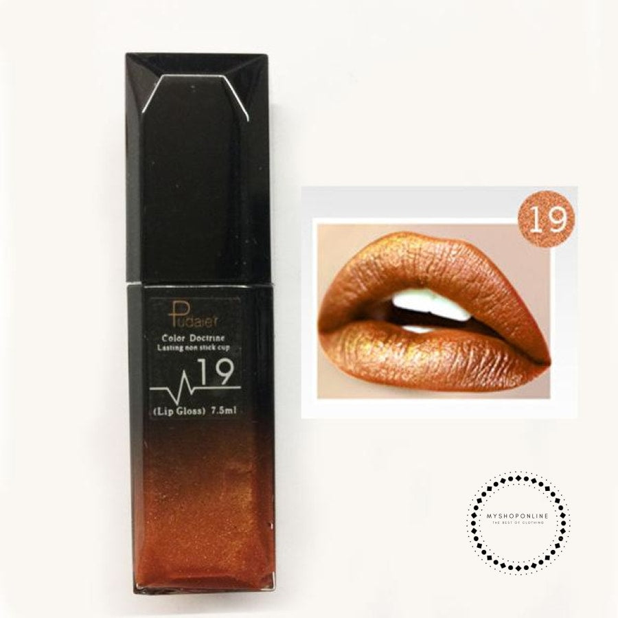 Waterproof Liquid Lipstick Makeup Women Cosmetic Matte 19 Accesorios