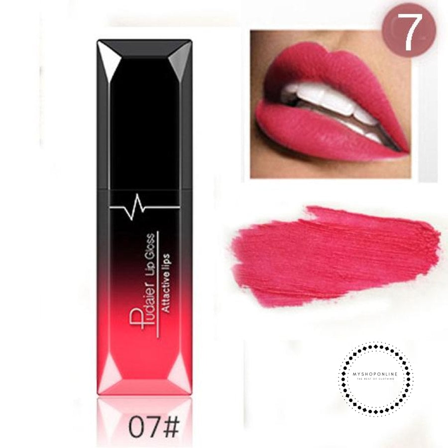 Waterproof Liquid Lipstick Makeup Women Cosmetic Matte 7 Accesorios