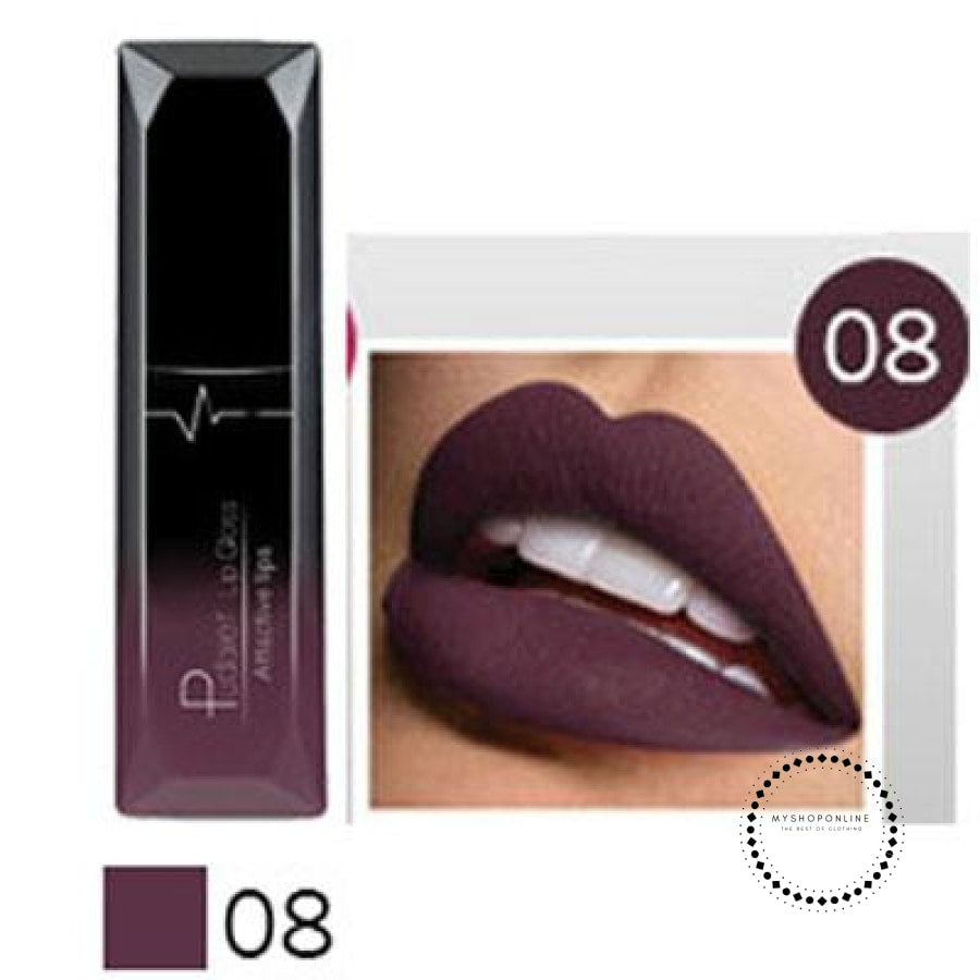 Waterproof Liquid Lipstick Makeup Women Cosmetic Matte 8 Accesorios