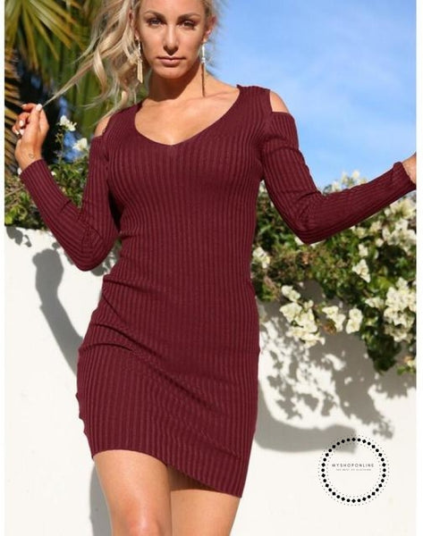 Winter Dress Dcd17328 Wine Red / S Accesorios