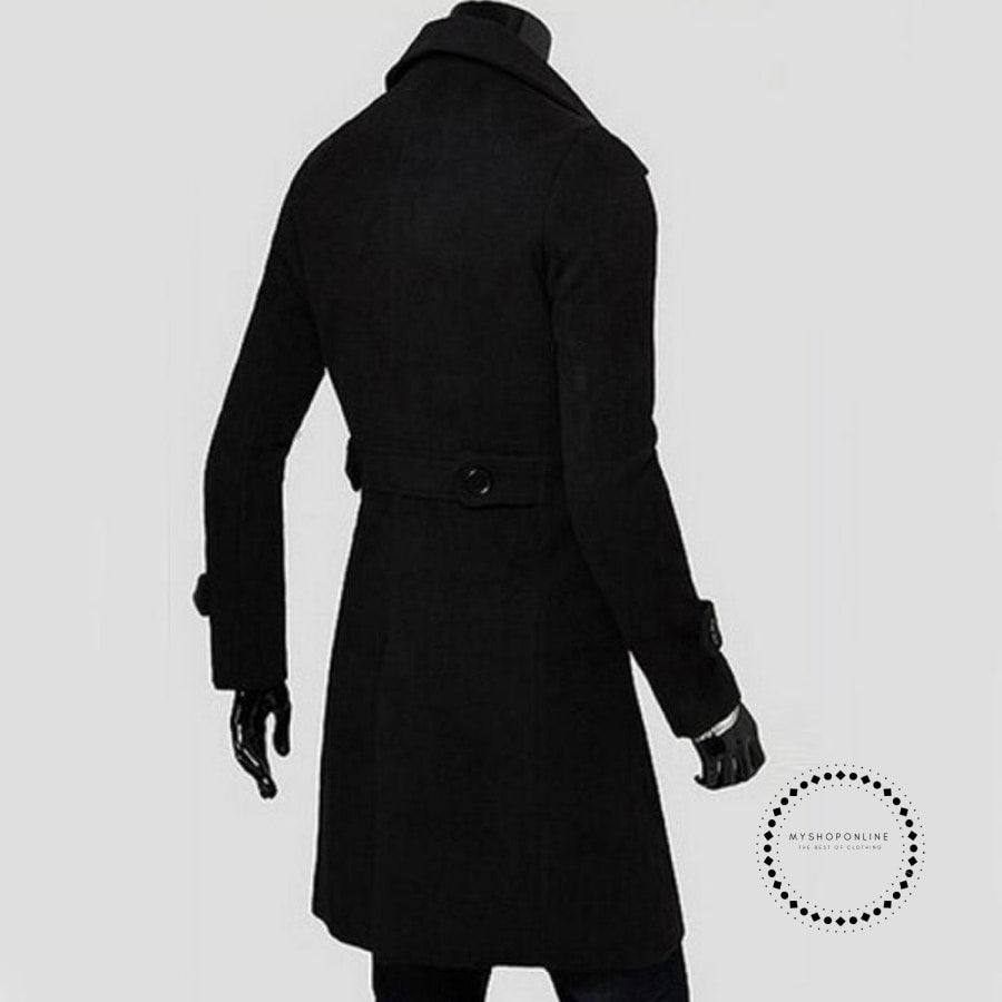 Winter Long Trench Coat Men Accesorios