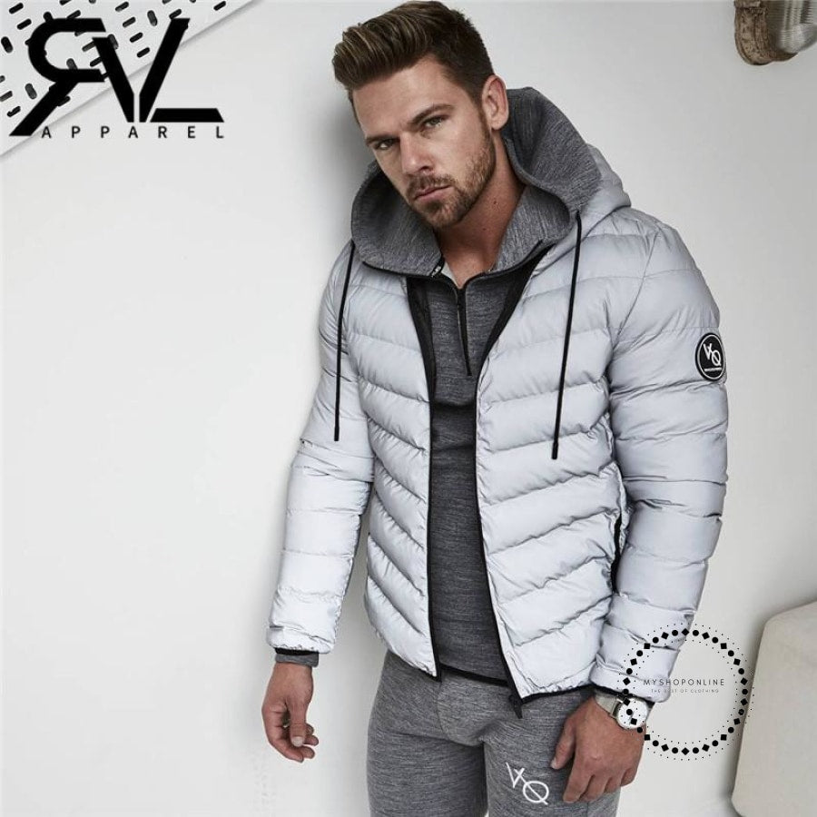 Winter Mens Jacket Outwear With Artificial Cotton Hooded Collar Fashion Men Casual Parka Down Coat Padded Zipper Patchwork Keep Warm