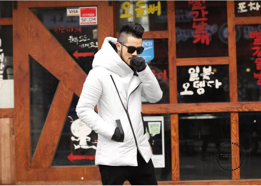 Winter New Mens Jackets Thickening Cotton Coat Men Warm Parkas Male Thick Hooded Coat Outwear