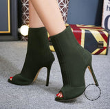 Women Sandals Knitted Stretch Party Shoes Fashion Gladiator Ankle Wholesale Accesorios